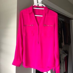 Express Hot Pink Blouse